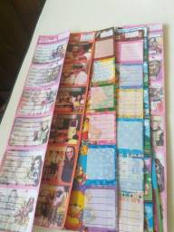 Título do anúncio: 9 cartelas de etiqueta adesiva escolar