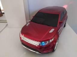 Caixa de Som Estilo Range Rover Vermelha - Bluetooth Usb Sd P2 Rádio Fm