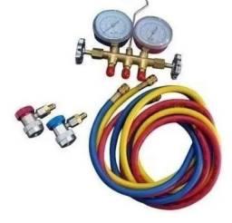 Manometro GAS COM MANGUEIRA 9 +Engate Rápido Baixa E alta pressão
