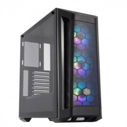gabinete masterbox mb511 mid tower com 3 fans de led argb preto