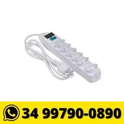 Extensão Elétrica Filtro de Linha Bivolt c/ 6 Tomadas 1,5m