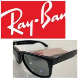 óculos de sol Ray-Ban Justin espelhado ORIGINAL