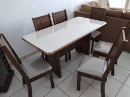 Mesa de Jantar 6 Cadeiras New Charm -- Entrega e montagem Na Hora