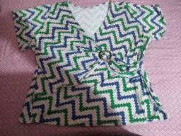 Blusa colorida tamanho 52