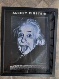 Título do anúncio: Quadro Albert Einstein (Tela + Moldura Caixa de Vidro)