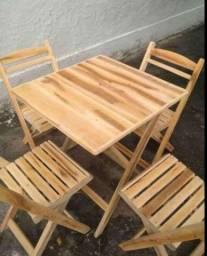 Título do anúncio: Mesa de palete com cadeira
