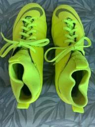Chuteira infantil para grama sintética, nº 36, Nike, modelo mercurial