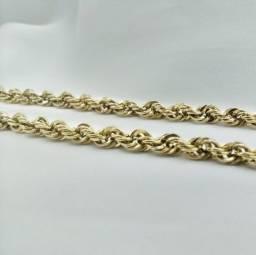 Corrente malha corda em Ouro 18k