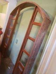 Título do anúncio: Porta Divisória de madeira com vidro ( Angelim Pedras )