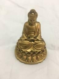 Título do anúncio: Buda Hindu Dourado Estatua Resina Decoração 14x10 cm