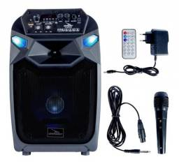 Caixa De Som 40W Rms Com Microfone e Controle e Bluetooth Grasep D-bh8104