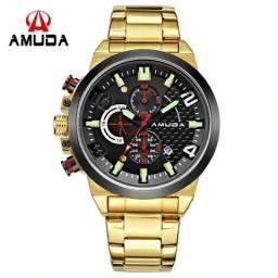 1b5d8820956 Relógio Masculino Amuda 5015 Original 30 Metros