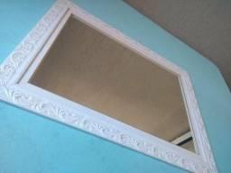 Espelho 4 mm com moldura de madeira NOVO