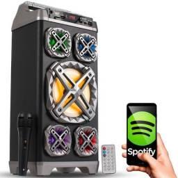 Caixa de som amplificada torre portátil 45w/60cm porrada de som por apenas R$250