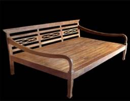 Banco rústico em madeira