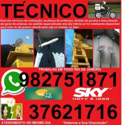 Técnico especializado em sky hdtv e oi tv . instalação e manutenção nilopolis nova iguaçu