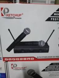 Microfone duplos sem fio
