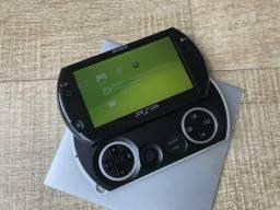 PSP Go, pouco usado, diversos jogos