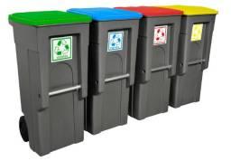 Contentores plásticos para coleta de resíduos 100 unidades de 120 litros (lixeiras)