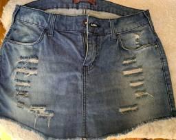Bermuda-saia jeans