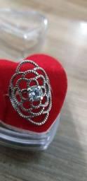 Promoção lindo anel tamanho 13-15! prata legítima pura, novo