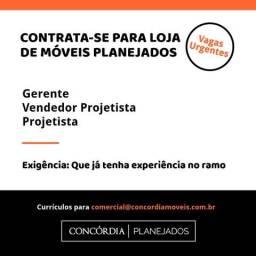 Vendedor Projetista - Moveis Planejados