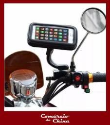 Suporte Impermeável de Celular e GPS para Moto