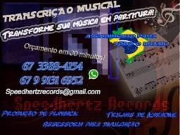 Título do anúncio: Transcrição, arranjo, produção musical, registro autoral