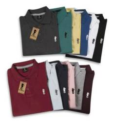 Kit 5 Camiseta Masculina Polo Marine