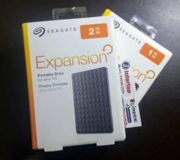 HD externo 2TB seagate Expansion Lacrado com garantia