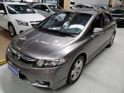 Honda Civic 1.8 Flex LXS Cinza 2009 (Completo + Couro) - 2009