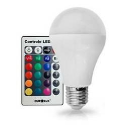 Lampada LED RGB controle remoto