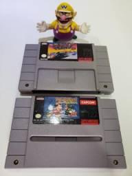 4 jogos originais de Super Nintendo