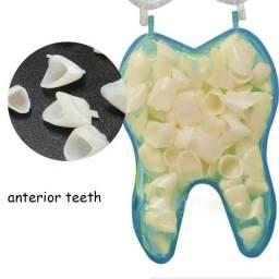 6 Dentes De Resina Sup. São 3 Pares De (caninos) Diferentes