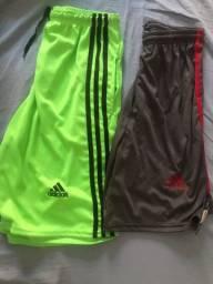 Bermudas Adidas. 2 por R$ 30,00