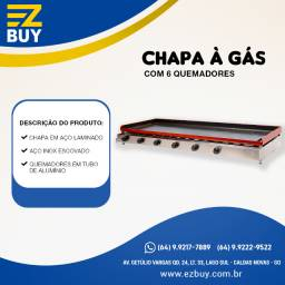 Chapa Bifeteira a gás Edanca cgb-150