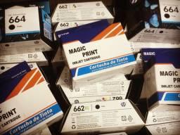 Cartuchos p/ impressora originais e compatíveis