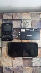 Vendo celular HTC (brinde câmera e celular akai)