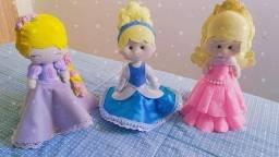 Princesas e Príncipes em feltro - vários personagens