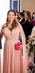 Vestido lindo de festa na cor rose
