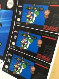 Título do anúncio: Labels Adesivos p Cartuchos Snes Mega Master Atari Nintendinho N64