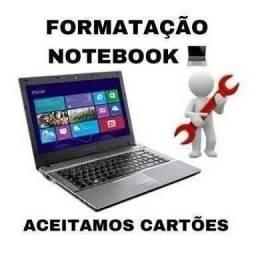 Formatação notebook, netbook