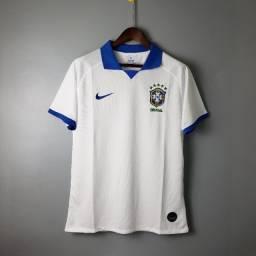 Título do anúncio: Camisa Seleção Brasileira II Branca Gola Polo