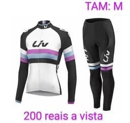 Título do anúncio: Roupa de ciclismo feminina novas tamanho M