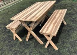 Mesa grande  madeira   maciça 