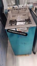 Título do anúncio: Fritadeira 2 cestos água e óleo - CAROLINA JM EQUIPAMENTOS