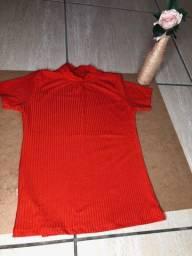 Blusa canelada