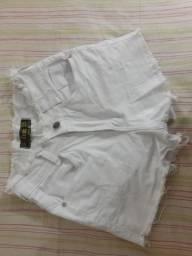 Short cintura alta branco