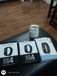 Smartwatch m4 e fone bluetooth
