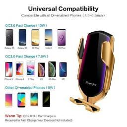 Suporte celular carregador wireless luxo s6 s7